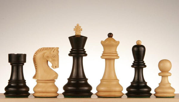 "SINGLE REPLACEMENT PIECES: Zagreb Chess Pieces, 3 3/4"" Ebonized Piece"
