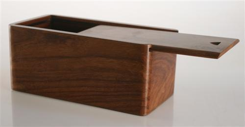 Sliding Lid Chess Box in Golden Rosewood (for most 3.5 to 3.75