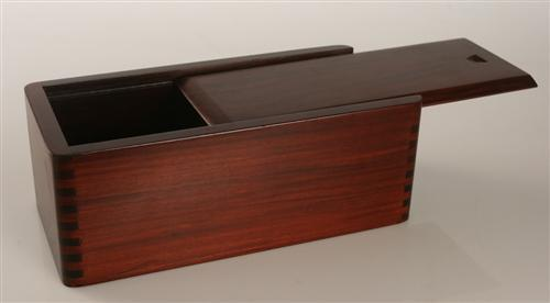 "Sliding Lid Chess Box in Mahogany (for most 4"" to 4.5"" pieces) - Box - Chess-House"