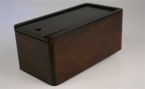 "Sliding Lid Chess Box in Walnut (for most 3.5 to 3.75"" pieces) - Box - Chess-House"