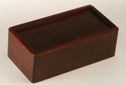 "Sliding Lid Chess Box in Walnut (for most 4"" to 4.5"" pieces) - Box - Chess-House"