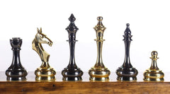 Solid Brass Chessmen Piece