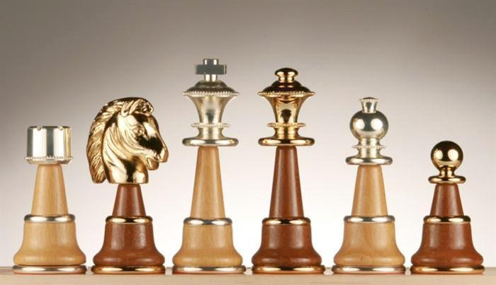 Solid Brass and Wood Pieces -  Chess Pieces