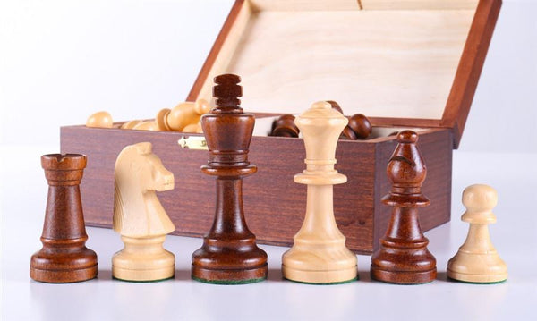 "Standard Staunton 3 5/8"" Chess Pieces #5 in Box - Piece - Chess-House"