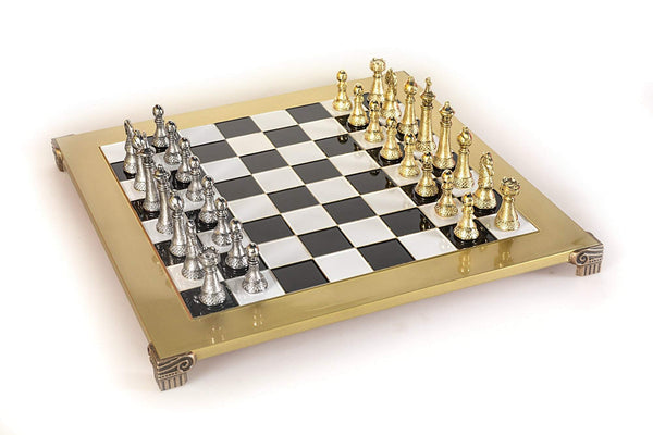 Staunton Chess Set - Gold and Silver - 11""