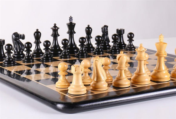 "Staunton Ebony Chess Set - 19"" - Chess Set - Chess-House"