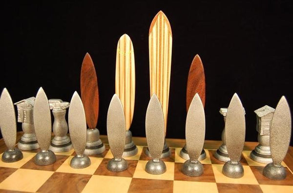 Surfer Themed Chess Pieces and Box - Piece - Chess-House