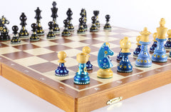 "Sydney Gruber Painted 20"" Tournament No 6 Chess Set - #2 Chess Set"