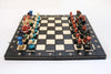 "Sydney Gruber Painted 21"" Ambassador Chess Set #1 Black Multicolor - Chess Set - Chess-House"