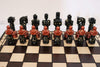 "Sydney Gruber Painted 22"" Large Gladiator Chess Set #1 Multicolor - Chess Set - Chess-House"