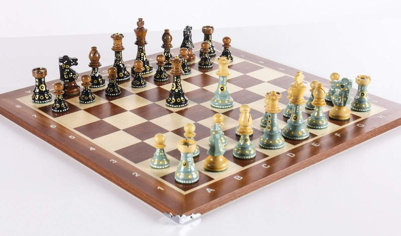 Sydney Gruber Painted Club Chess Set Combo #1