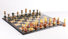 Sydney Gruber Painted Club Chess Set Combo #4 in Bronze vs Black - Chess Set - Chess-House