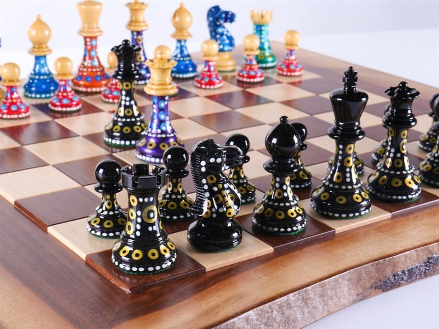 Sydney Gruberu0027s Painted Chess Set   Live Edge Design   Chess Set   Chess  House
