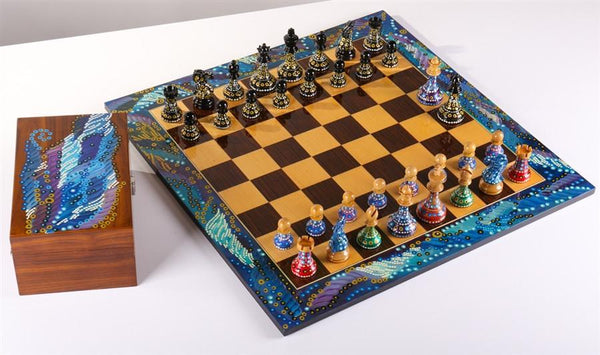 Sydney Gruber's Painted Chess Set - Polgar Design - Chess Set - Chess-House