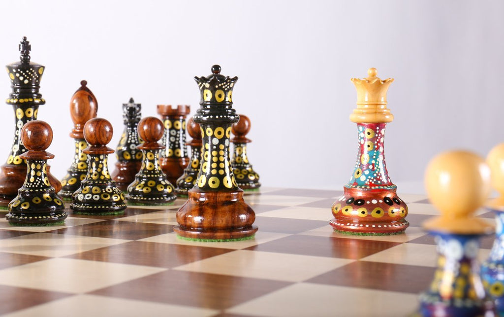 Great Sydney Gruberu0027s Painted Chess Set   Queen Anne Design   Chess Set   Chess  House