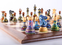 Sydney Gruber's Painted Chess Set - Queen Anne Design - Chess Set - Chess-House