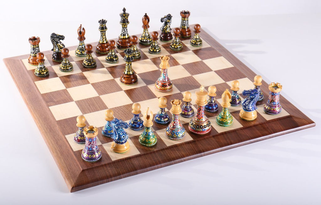 Sydney Gruberu0027s Painted Chess Set   Queen Anne Design   Chess Set   Chess  House