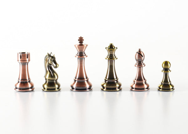 Tall Metallic Style Plastic Chess Pieces - Piece - Chess-House