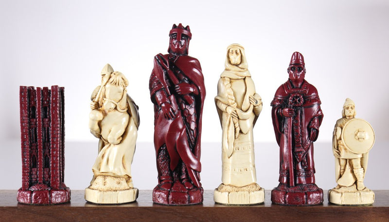 The Battle of Hastings Chess Pieces - SAC Antiqued