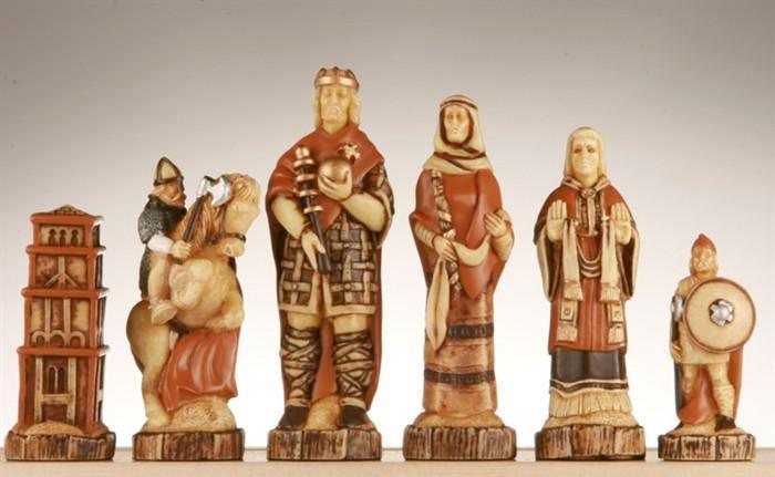 The Battle of Hastings Chess Pieces - SAC Hand Decorated