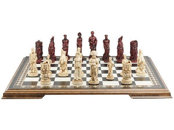 The Battle of Waterloo Chess Pieces - SAC Antiqued