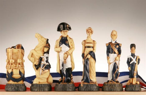 The Battle of Waterloo Chess Pieces - SAC Hand Painted - Piece - Chess-House