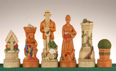The Cottage Chess Pieces - SAC Hand Decorated - Piece - Chess-House