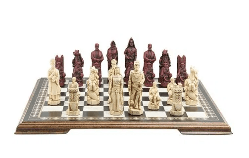The Crusades Chess Pieces - SAC Antiqued