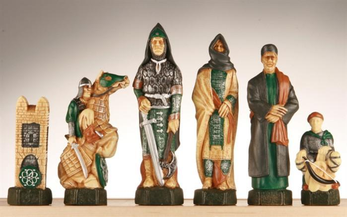 The Crusades Chess Pieces - SAC Hand Decorated