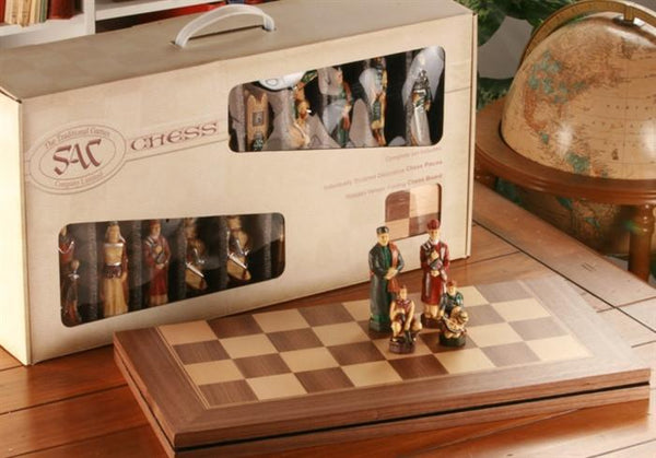 The Crusades Chess Set with Presentation Box - SAC Hand Decorated - Chess Set - Chess-House