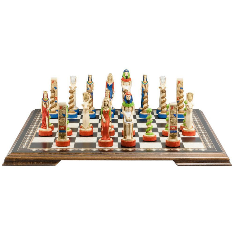 The Egyptian Chess Pieces - SAC Hand Painted