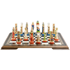 The Egyptian Chess Pieces - Hand Painted - Piece - Chess-House