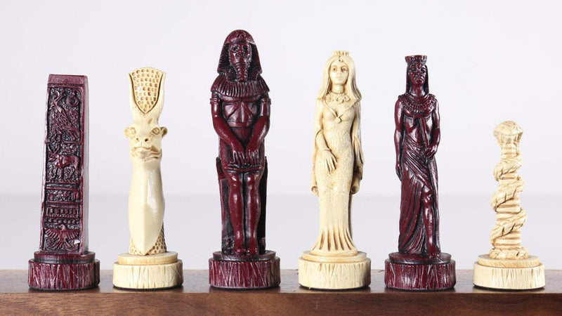 The Egyptian Chess Pieces - SAC Antiqued