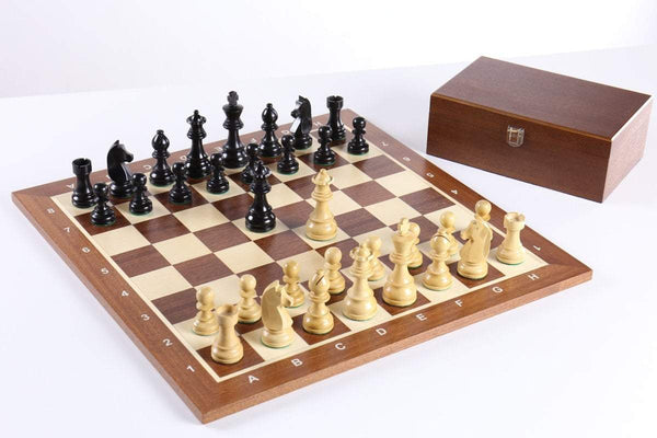 The German Staunton Chess Set Combo with Storage Chess Set