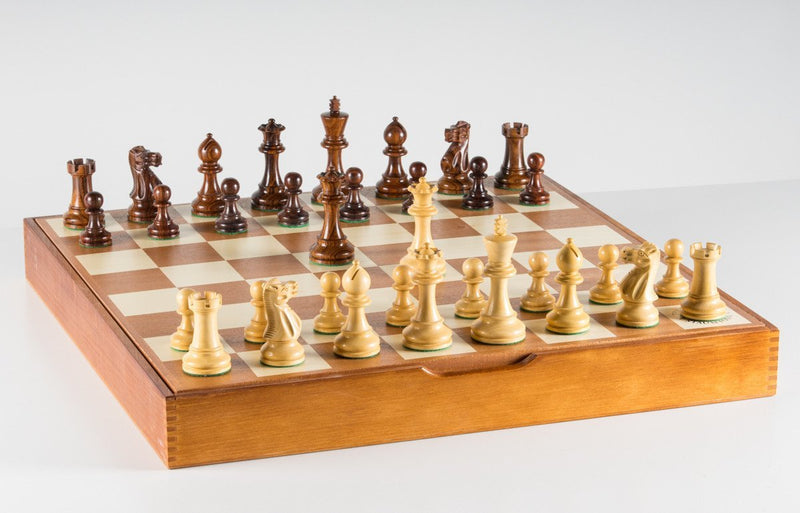 The Grandmaster Chess Set and Storage Board Combination