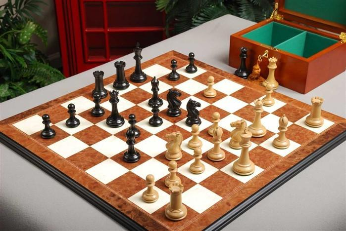 The Hastings Chess Set and Board Combination