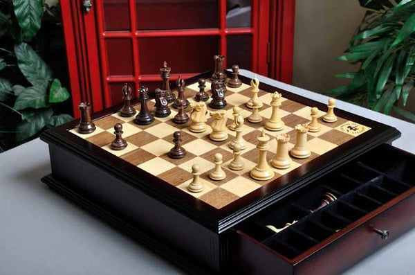 The Library Collector Series Chess Set and Board Combination - Rosewood - Chess Set - Chess-House