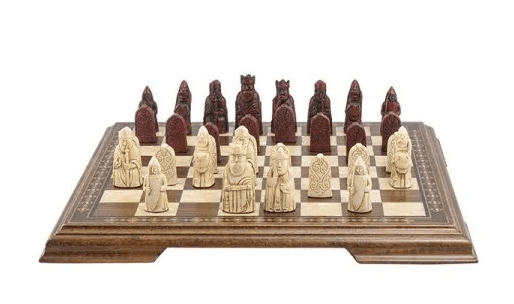 The Red Isle of Lewis Antiqued Chessmen