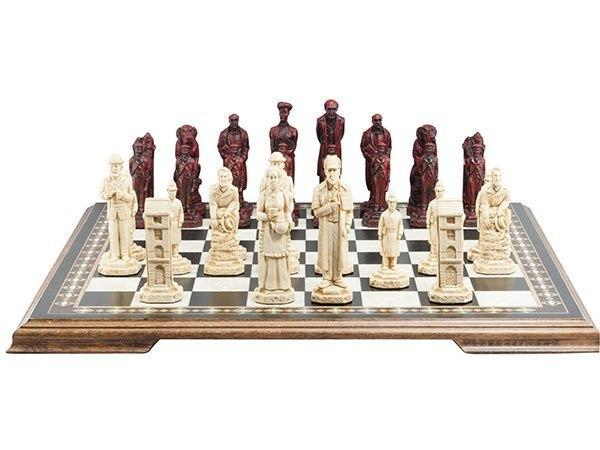 The Sherlock Holmes Chess Pieces - SAC Antiqued