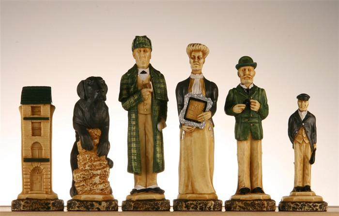 The Sherlock Holmes Chess Pieces - SAC Hand Decorated