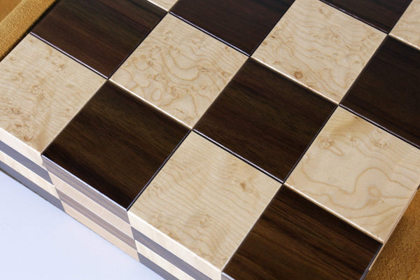 the STACK Chessboard - Tournament Edition in Rosewood and Birdseye Maple Board