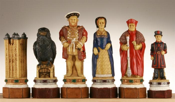 The Tower of London Chess Pieces - SAC Hand Decorated