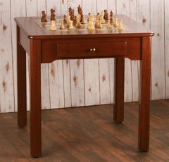 US Made Classic Game Table, Solid Cherry Wood - 3 in 1 - Table - Chess-House
