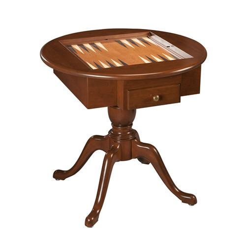 Us Made Round Pedestal Game Table Solid Cherry Wood 3