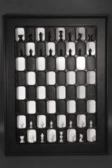 Wall Mounted Chess Board - Retro Style - Chess Set - Chess-House