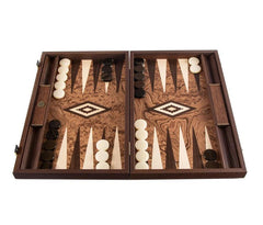 Walnut Burl Backgammon Set with Side Racks