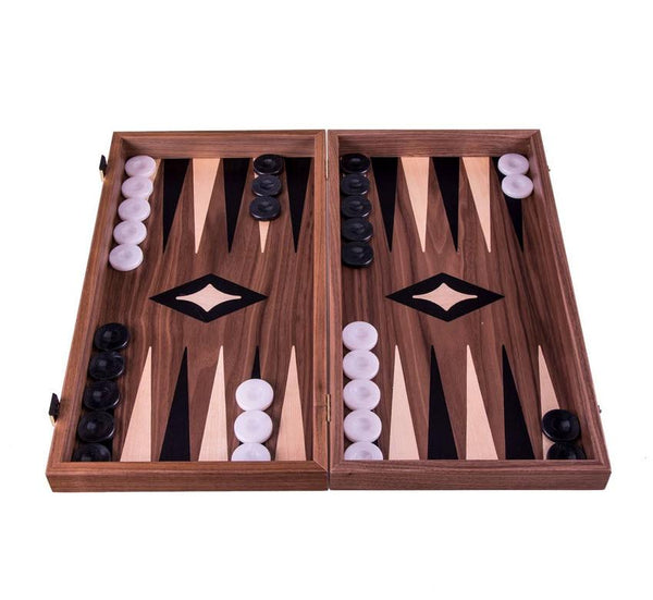 Walnut Chess and Backgammon Set