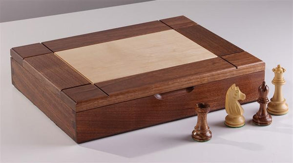 Walnut Maple Premium Hardwood Chess Box - Box - Chess-House