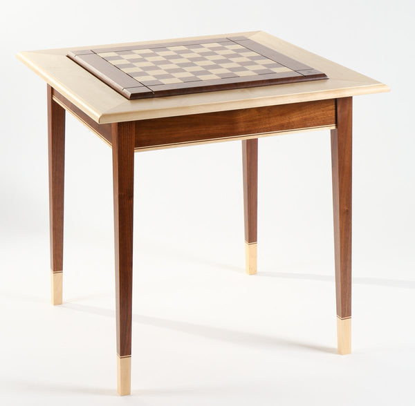 Walnut Maple Premium Hardwood Chess Table - FRAME ONLY (DISCOUNTED FOR IMPERFECTION)