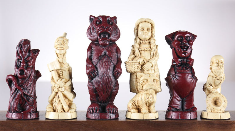 Wizard of Oz Chess Pieces - SAC Antiqued